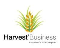 Logotipo do negócio da colheita Fotos de Stock