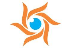 Logotipo do olho de Sun ilustração stock
