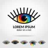 Logotipo do olho do arco-íris Imagens de Stock