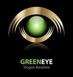 Logotipo do olho verde Foto de Stock
