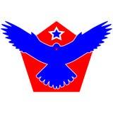 Logotipo do pássaro da estrela Fotografia de Stock