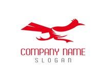 Logotipo do pássaro do Roadrunner ilustração stock