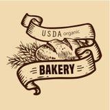 Logotipo do pão com fitas Fotos de Stock
