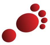 Logotipo do pé Foto de Stock