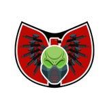 Logotipo do Paintball Emblema militar Sinal do exército Crânio em protetor Foto de Stock