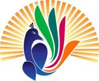 Logotipo do pavão Imagem de Stock