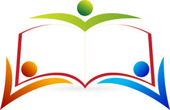 Logotipo do peope do livro Foto de Stock