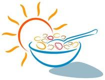Logotipo do pequeno almoço Fotografia de Stock