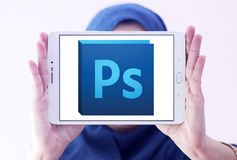 Logotipo do photoshop de Adobe foto de stock royalty free