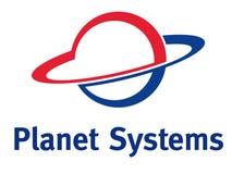 Logotipo do planeta ilustração stock