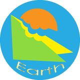 Logotipo do planeta da terra de Minimalistic Foto de Stock Royalty Free