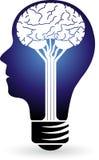 Logotipo do poder da lâmpada Fotografia de Stock Royalty Free