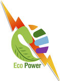 Logotipo do poder da mão Foto de Stock Royalty Free