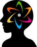 Logotipo do poder de cérebro Imagens de Stock