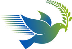Logotipo do pombo Imagens de Stock