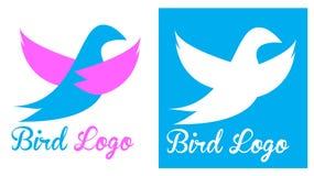 Logotipo do pombo do pássaro Foto de Stock Royalty Free