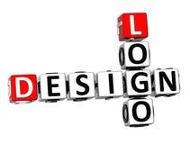 logotipo do projeto das palavras cruzadas 3D no fundo branco Fotografia de Stock