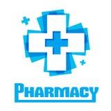 Logotipo do projeto do molde médico ilustração royalty free