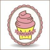 Logotipo do queque Foto de Stock Royalty Free