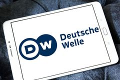 Logotipo do radiodifusor de Deutsche Welle Foto de Stock Royalty Free