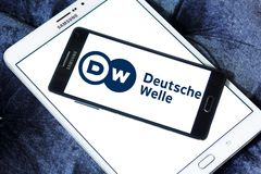 Logotipo do radiodifusor de Deutsche Welle Fotografia de Stock Royalty Free