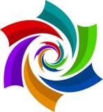 Logotipo do redemoinho ilustração do vetor