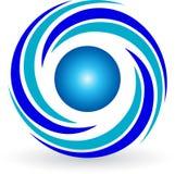 Logotipo do redemoinho ilustração royalty free