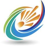Logotipo do redemoinho de Sun ilustração do vetor