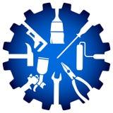 Logotipo do reparo da casa Imagens de Stock