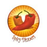 Logotipo do restaurante Fotografia de Stock