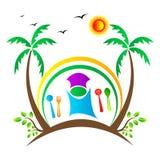 Logotipo do restaurante imagens de stock