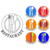 Logotipo do restaurante Imagem de Stock