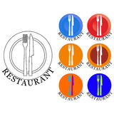 Logotipo do restaurante Foto de Stock Royalty Free