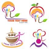 Logotipo do restaurante Foto de Stock Royalty Free