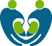 Logotipo do rim dos povos Imagens de Stock Royalty Free