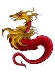 Logotipo do símbolo do dragão ilustração royalty free
