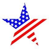 Logotipo do símbolo do Estados Unidos da América da estrela ilustração do vetor
