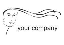 Logotipo do salão de beleza de cabelo Fotografia de Stock