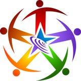 Logotipo do ser humano da estrela Fotos de Stock