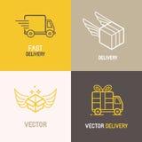 Logotipo do serviço de entrega expressa do vetor Imagens de Stock Royalty Free