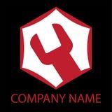 Logotipo do serviço de reparação de automóveis Imagens de Stock
