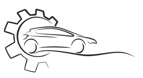 Logotipo do serviço do carro Fotografia de Stock
