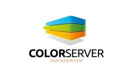 Logotipo do servidor da cor ilustração stock