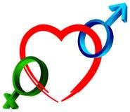 Logotipo do sexo Fotografia de Stock Royalty Free