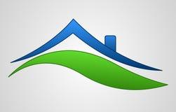 Logotipo do sinal da casa ilustração do vetor