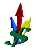 Logotipo do sinal de dólar Imagens de Stock Royalty Free