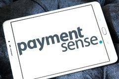 Logotipo do sistema de pagamento de Paymentsense foto de stock royalty free