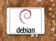 Logotipo do sistema operacional do computador de Debian Fotos de Stock