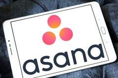Logotipo do software de Asana Imagens de Stock
