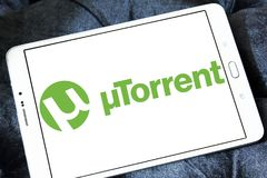 Logotipo do software de UTorrent Fotografia de Stock Royalty Free